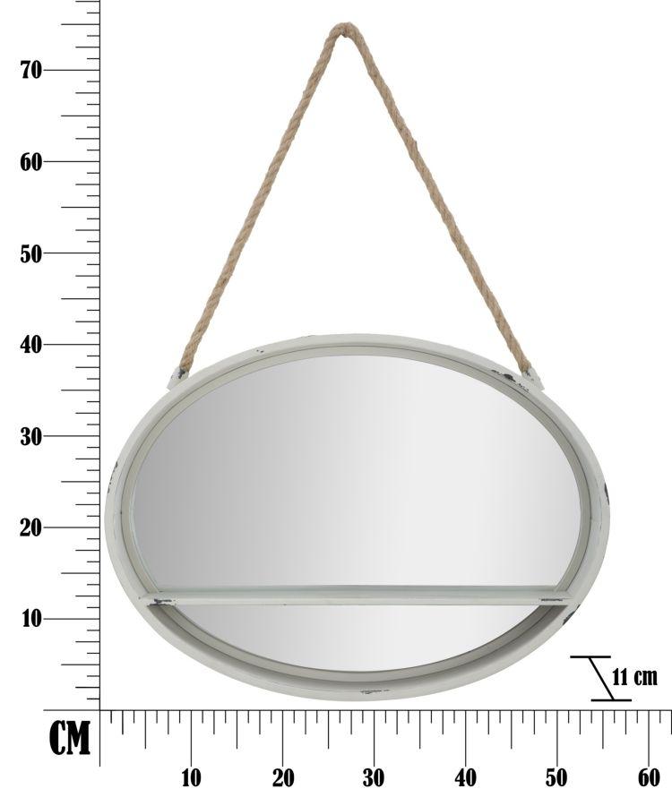 Specchio Oval Cm 54x11x40 Misura Specchio Cm 52 5x37 5