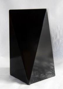 SGABELLO STONE NERO CM 42X42X60