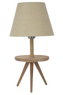 LAMPADA DA TAVOLO C/SVUOTATASCHE -A- IN LEGNO Ø CM 25X48