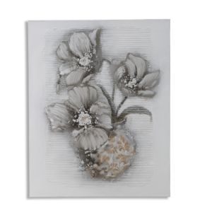 DIPINTO SU TELA WITHERED FLOWER CM 80X3X100
