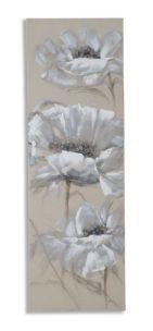 DIPINTO SU TELA SOFT FLOWER CM 40X3X120