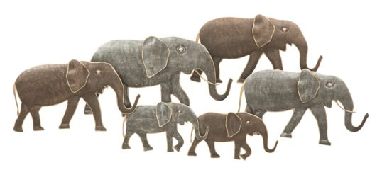 PANNELLO IN FERRO ELEPHANT CM 128X4X56