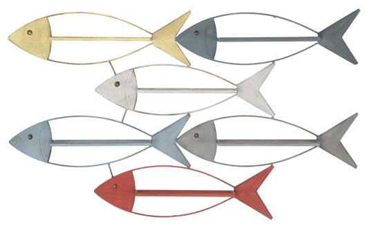 P/BOTTIGLIE DA MURO FISH CM  103,5X8X62
