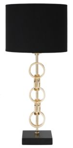 LAMPADA DA TAVOLO GLAM RINGS CM Ø 25X54,5