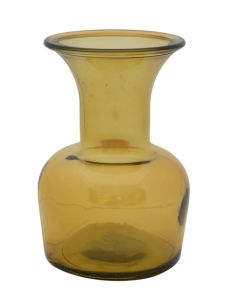 VASO VETRO RICICLATO CUP YELLOW Ø 14X20 (MADE IN SPAIN)