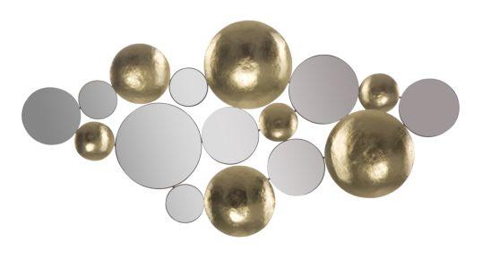 PANNELLO GOLD MIRROR GLAM CM 118X2,5X60